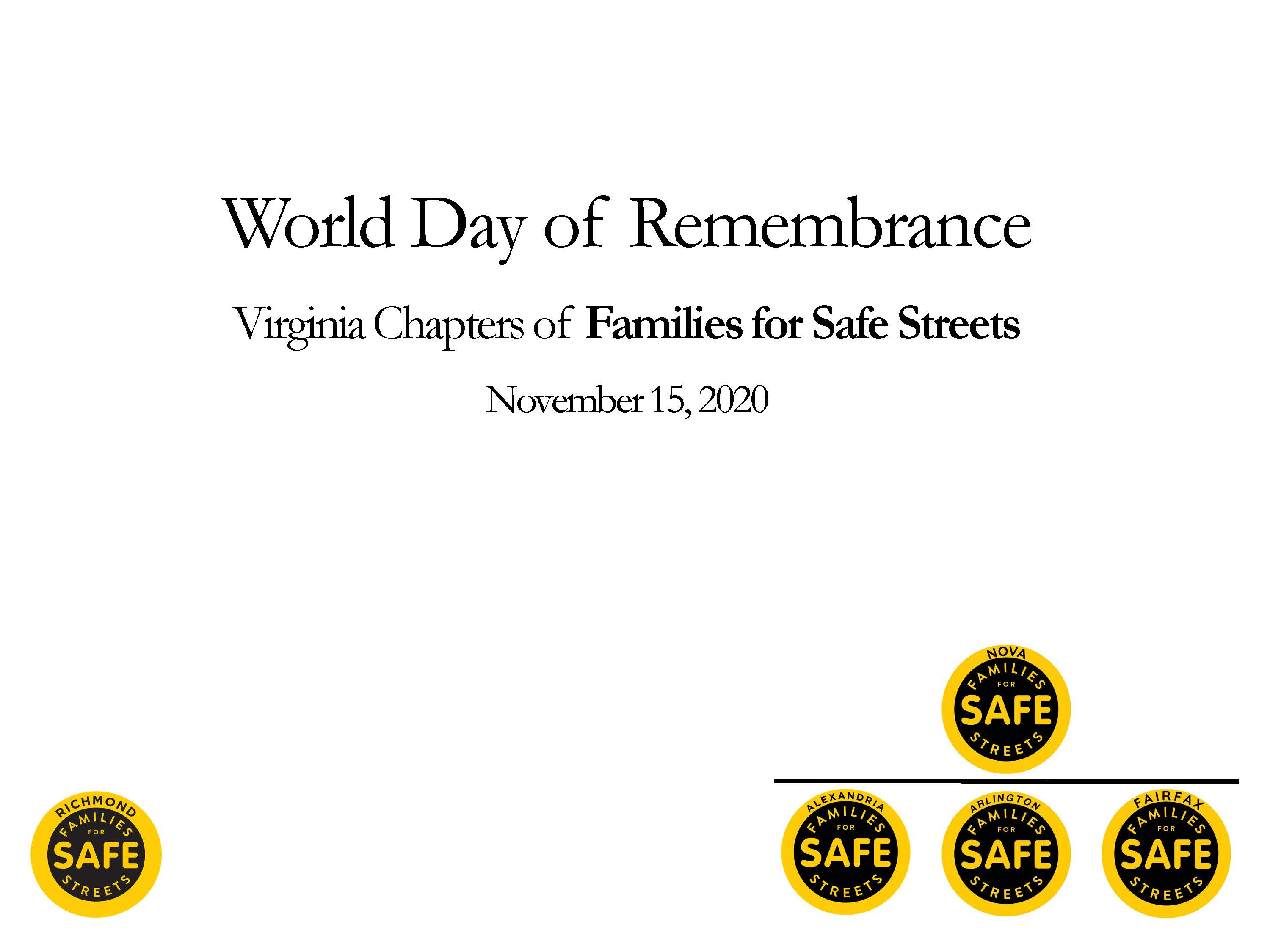 World Day of Rememberance Presentation Advocating for Speed Management Regulations
